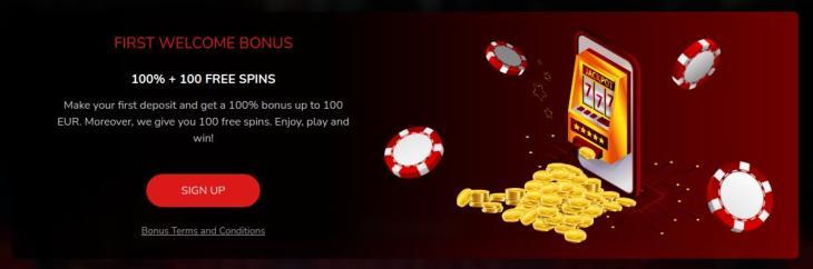 Oshi Casino velkomstbonus