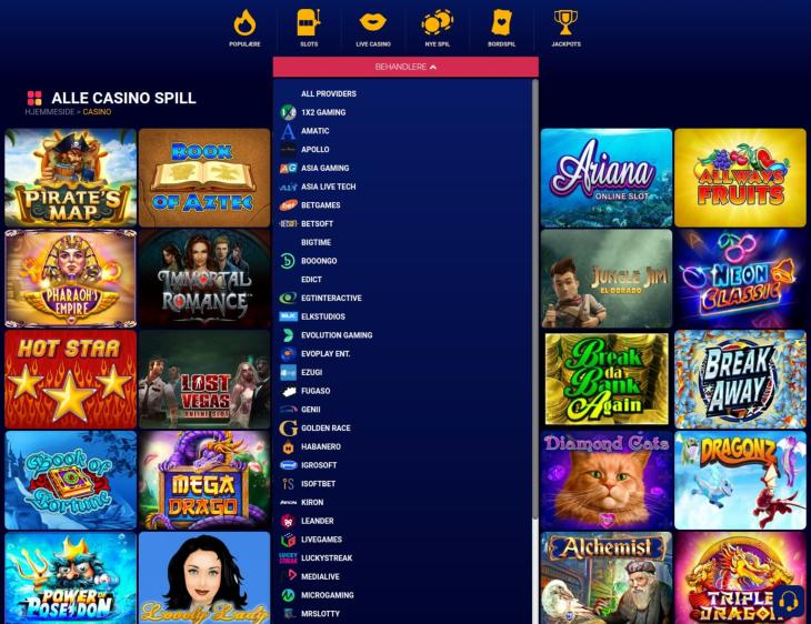 Spiludviklere og casino spil