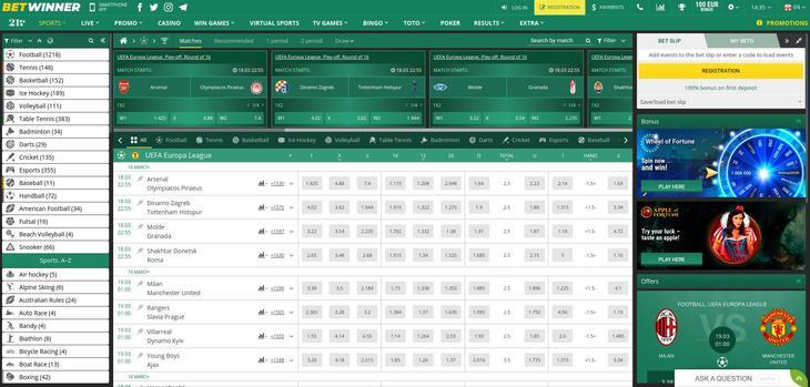 Betwinner: betting & odds