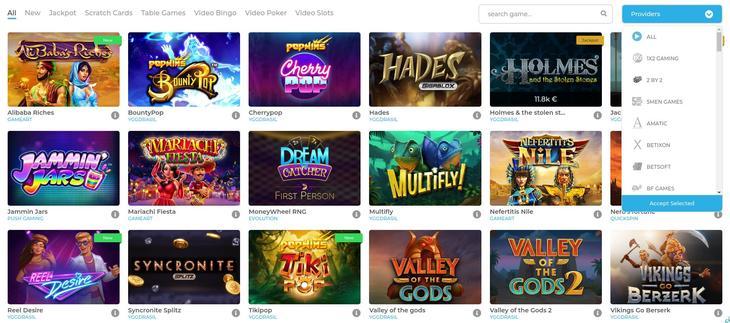 Spiludviklere og Wolfy casino spil